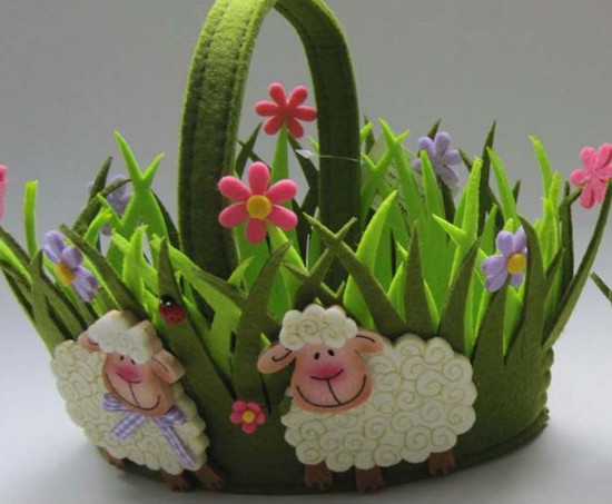 Art No 04 2422 Easter Holiday Gift Felt Basket