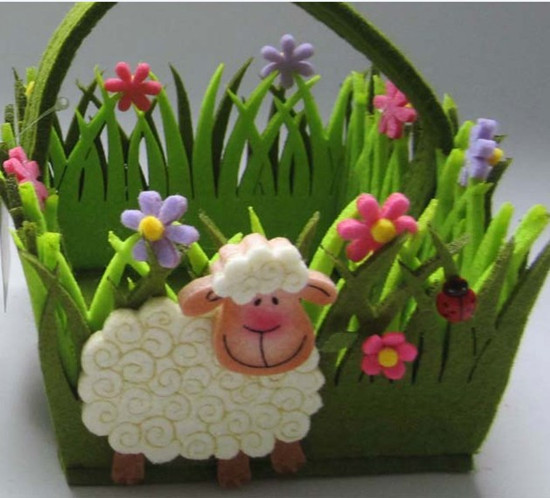 Art No 04 2428 Easter Holiday Gift Felt Basket
