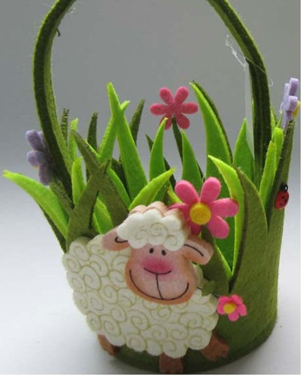 Art No 04 2430 Easter Holiday Gift Felt Basket