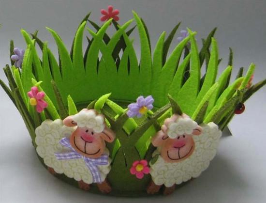 Art No 04 2433 Felt Flower Pot Holder