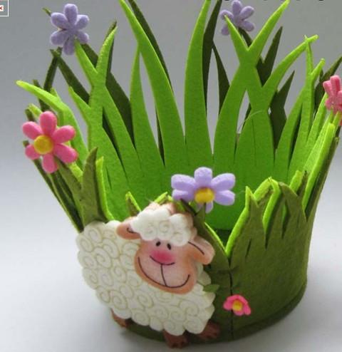 Art No 04 2434 Felt Flower Pot Holder