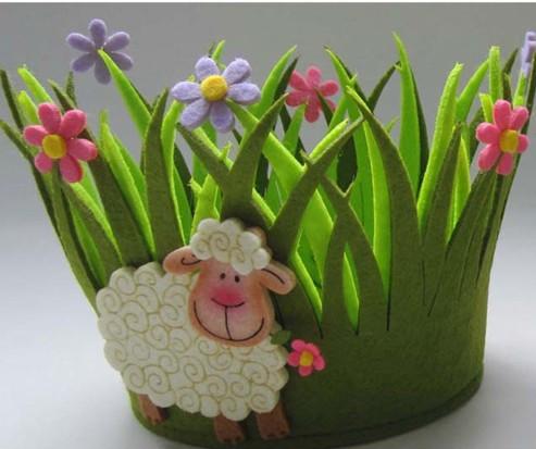 Art No 04 2438 Felt Flower Pot Holder