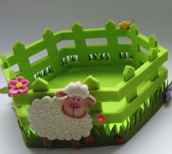 Art No 04 2457 Easter Holiday Gift Felt Basket