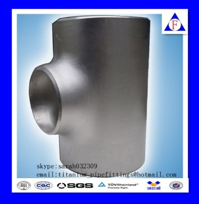 Asme B16 9 Seamless Titanium Pipe Fittings Equal And Reducer Tee Manufacturer