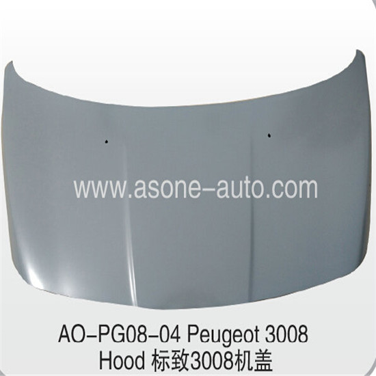 Asone Engine Hood For Peugeot 3008 Metal Body Parts