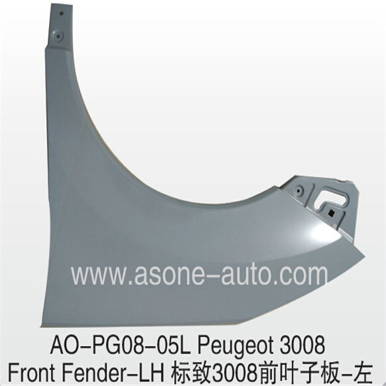 Asone Front Fender For Peugeot 3008 Metal Replacement