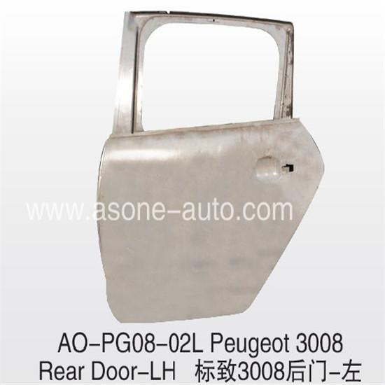 Asone Rear Door For Peugeot 3008 Body Parts Replacement