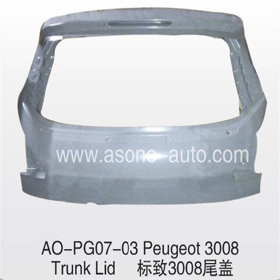 Asone Trunklid For Peugeot 3008 Body Parts Replacement