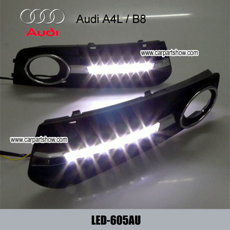Audi A4l Drl Led Daytime Running Lights Car Headlight Parts Fog Lamp Cover 605au