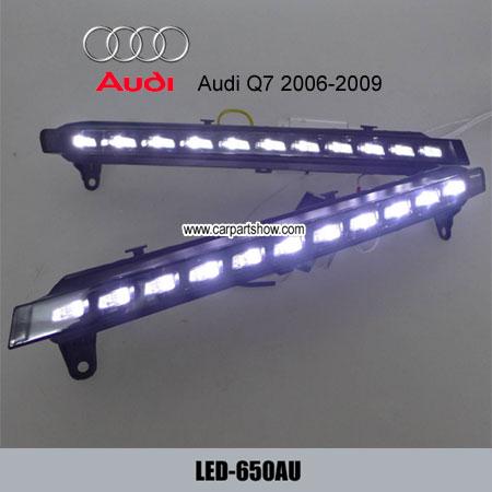 Audi Q7 Drl Led Daytime Running Lights Turn Light Steering Lamp Car Headlight Parts Fog Cover 650au
