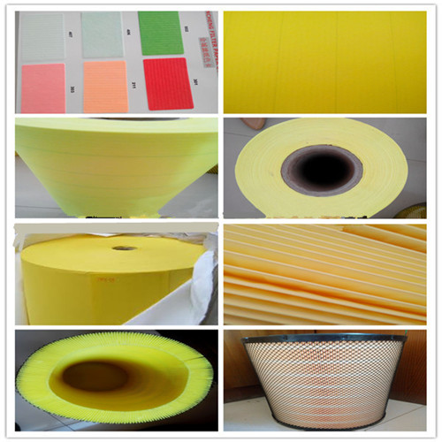 Auto Motorcycle Part Air Filter Paper Flame Retarded Resin