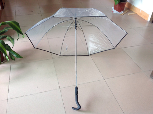 Auto Open And Close Transparent Straight Umbrella