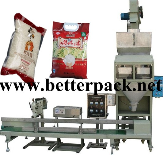 Auto Rice Beans Weighing Filling Packing Line