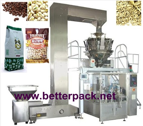 Automatic Stand Up Pouch Weighing Filling Sealing Packaging Equipment