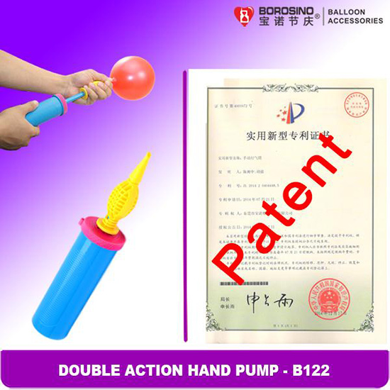 B122 Newly Double Action Balloon Hand Pump