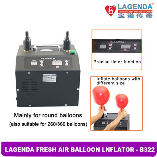 B322 Lagenda Fresh Air Professional Electric Balloon Inflator