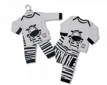 Baby 2 Pcs Cotton Pyjama Zebra
