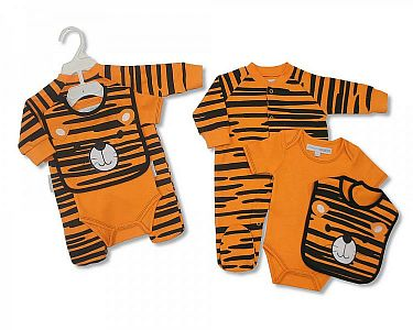 Baby 3 Pcs Cotton Set Tiger