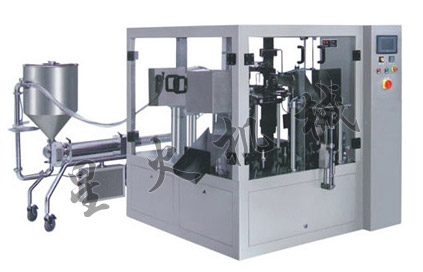 Bag Sending And Chili Sauce Filling Machine