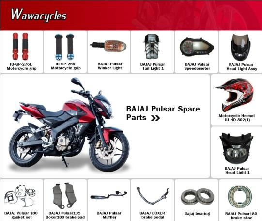 Bajaj Pulsar Motorcycle Spare Parts