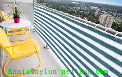 Balcony Screen Net Decorates And Offers Security