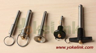 Ball Lock Pin Quick Release Self Locking Clevis Detent Double Acting Pull Lanyard Special Screws Nut