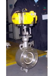 Ball Valve Actuated By Pneumatic 4 Piston Actuator
