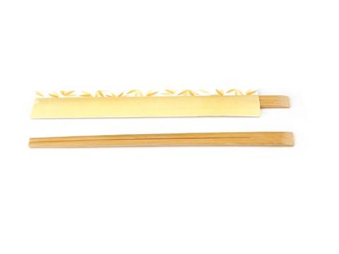 Bamboo Chopsticks Yellow Wrapper