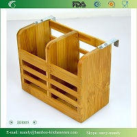 Bamboo Kitchen Utensil Caddy