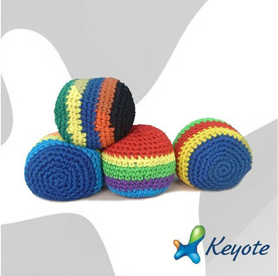 Beanbag Knitted Hacky Sack Sewing Kick Ball