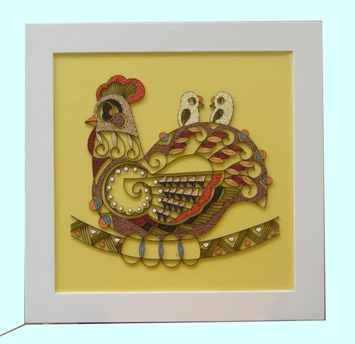 Beautiful Handmade Quilling Picture