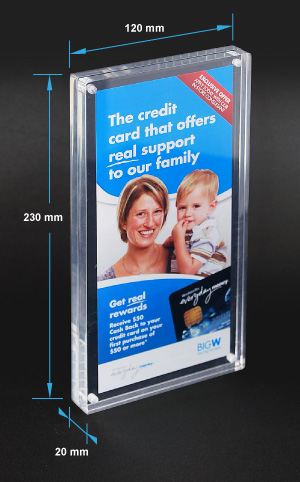 Beautiful Magnetic Acrylic Photo Frame