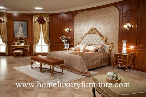 Bed Neo Classical Bedroom Sets Antique Furniture Kingbed Solid Wood Fb 138
