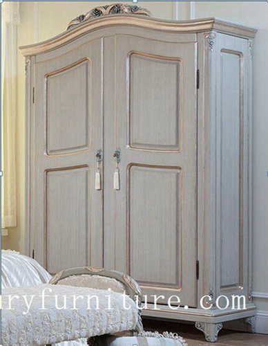 Bedroom Wardrobe 2 Door Armoire French Solid Wood Armoires