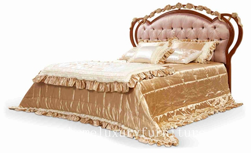 Beds Neo Classical Bed King Royal Luxury Solid Wood Supplier Fb 128