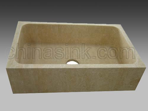Beige Travertine Farmhouse Sink