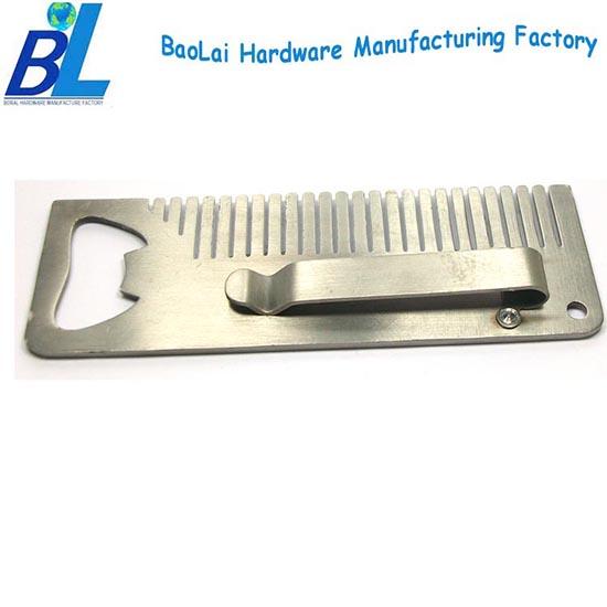Belt Clip Type Beard Comb With Bottle Opener For Men