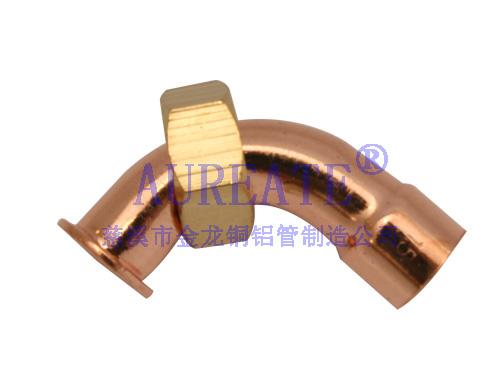 Bent Nut Connect Flat Neck Cxf1 Copper Fitting
