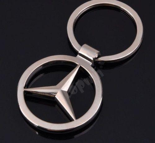 Benz Car Logo Metal Keychain
