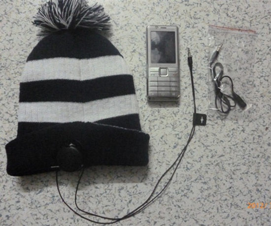 Best Sell Headphone Beanie Ear Flaps Cap Cable Hat