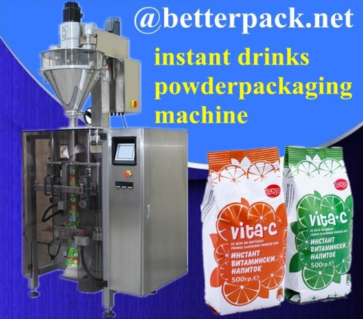 Big Plastic Pouch Drinks Powder Forming Filling Sealing Packaging Machine