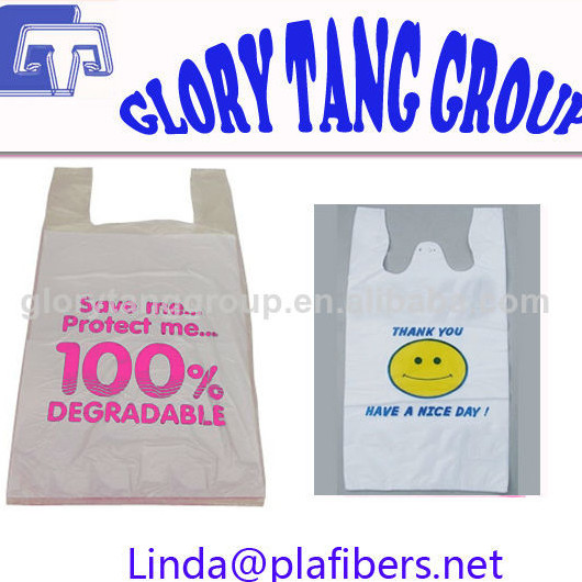 Biodegradable And Compostable Corn Starch Plastic Shopping Bags