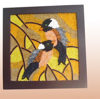 Bird Quilling Picture Handmade Gifts