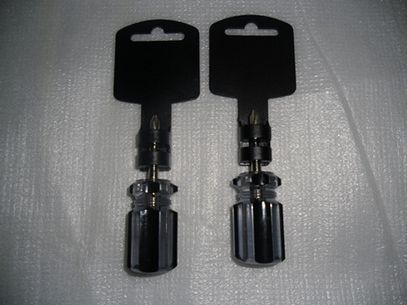 Black Acetate Phillips Stubby Screwdriver