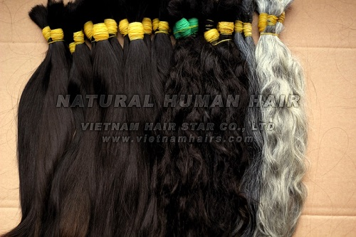 Black Color Natural Remy Human Hair
