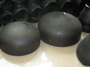 Black Painted Butt Welded End Cap Professional Pipe Exporter