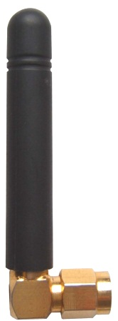 Black Rubber Gsm Antenna With Sma Male Connector