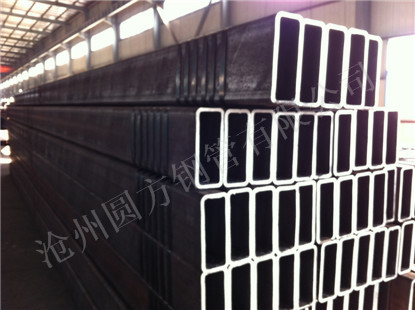 Black Seamless Rectangular Steel Pipe Hollow Sections