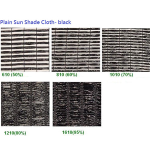 Black Shade Netting Plain Series