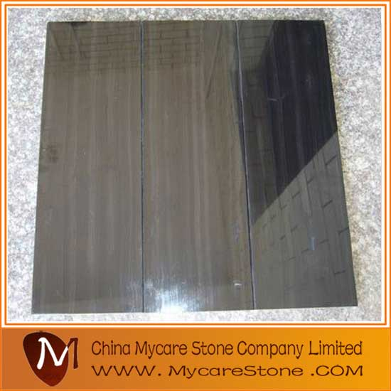 Black Wooden Grainy Marble Tiles